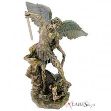 Statues For Home Decor by Archangel St Michael Large Bronze Resin Statue