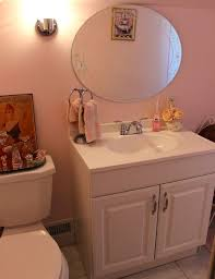 our updated pink powder room hometalk
