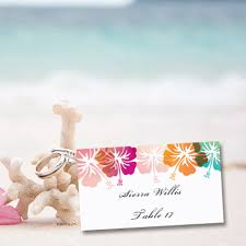 themed place cards place card printable template hibiscus