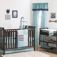 Navy Blue And Gray Bedding The Peanut Shell 4 Piece Baby Crib Bedding Set Turquoise Gray