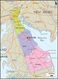 Virginia Map With Cities And Towns by Map Of Delaware Includes Major Cities Towns Counties And Road