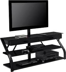large black tone media console with storage drawers of gorgeous