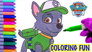 nickelodeon paw patrol rocky coloring page fun coloring activity