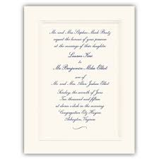 wedding invitations embossed embossed border wedding invitations paperstyle
