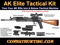 ak 47 laser light combo k cakk02 ak47 tactical scope mount kit with quad rail and ak47