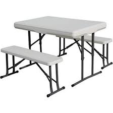Keter Folding Bench Stansport Camp Table W Folding Bench Seats Seats 4 Campers
