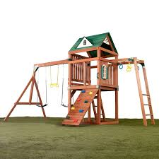 Porch Swings For Sale Lowes by Shop Swing N Slide Cumberland Ready To Assemble Play Set At Lowes Com