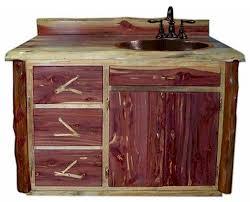 Red Bathroom Cabinets Aromatic Red Rustic Cedar Log Vanity Cabin Vanity Bathroom