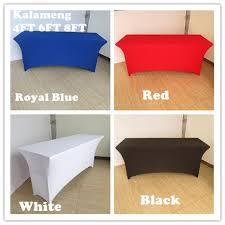 8 ft table skirt 4ft 6ft 8ft rectangular table cover spandex lycra stretch wedding