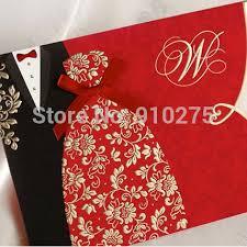 Groom To Bride Wedding Card Free Shipping 50pcs Lot Bride U0026 Groom Dress U0026 Tuxedo Wedding