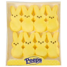 easter marshmallow candy easter candy peeps yellow marshmallow bunnies 8 ct packs