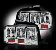 mustang led tail lights recon 264187cl ford mustang 05 09 led tail lights clear lens gorecon