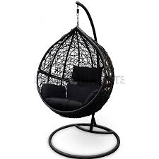 outdoor hanging ball chair black u0026 black bare outdoors