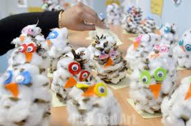pine cone crafts snowy owls ted s