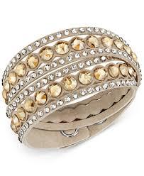 double wrap bracelet images Swarovski crystal double wrap bracelet jewelry watches macy 39 s tif