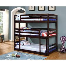 Millan Patio Furniture by Contemporary Merlot Triple Twin Bunk Bed Milan Rc Willey