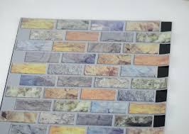Vinyl Wall Tiles For Kitchen - 3d mosaic self adhesive wall tiles for kitchen metallic vinyl