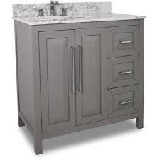 Vanities With Drawers Grey Jeffrey Alexander Van100 36 T