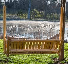 outdoor log furniture