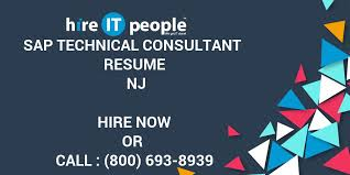 sap crm technical consultant resume sap technical consultant resume nj hire it people we get it done
