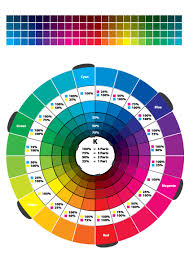 style enchanting color wheel for wedding combinations color