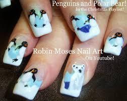 purple christmas nail art