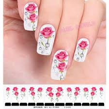 5sheets water transfer nail stickers flowers leopard designs nail