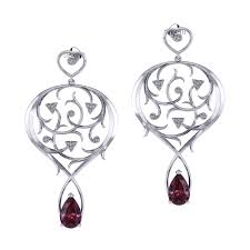 garnet earrings nouveau garden garnet earrings jewelry designs