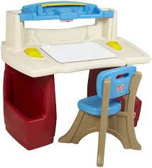 Kids Art Desk With Storage by Kids Desks And Chairs Light Blue Wall Paint Decoration Wooden