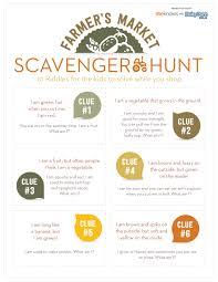 farmers market scavenger hunt keeps kids busy while you shop