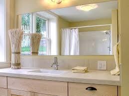 Glass Mirrors For Bathrooms Beveled Bathroom Mirror Bathrooms