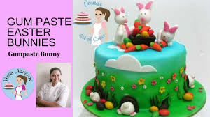 Marzipan Easter Cake Decorations by How To Make Gumpaste Easter Bunnies Cake Decorating Tutorials