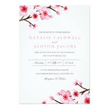 cherry blossom wedding invitations painted cherry blossoms wedding invite zazzle