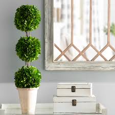 What Is A Topiary Ophelia U0026 Co Triple Ball Topiary In Planter U0026 Reviews Wayfair