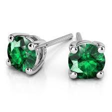 emerald stud earrings 18k gold emerald stud earrings 5mm giacobbe company
