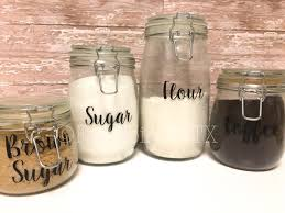 glass kitchen storage canisters your tidy home etsy