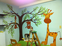 Paint Ideas For Kids Rooms by Intriguing Wall Painting Idea Applied In Corner Area Of Great