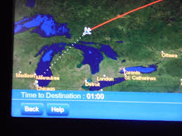 Map To Chicago by United Airlines Business Class 767 300 London To Chicago Travels