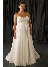empire waist plus size wedding dress the empire waist and the bottom of this one incorporated with the
