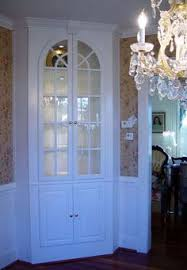 corner china cabinet built in simple with beautiful molding