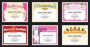 award certificate samples dance certificate templates dancing awards dance class