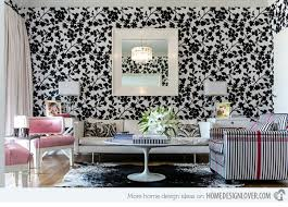 wallpaper for livingroom 15 living room with floral wallpapers home design lover
