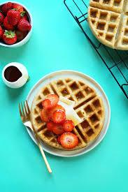 Vegan Gluten Free Bread Machine Recipe The Best Vegan Gluten Free Waffles Minimalist Baker Recipes