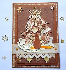 winter vintage handmade greeting card
