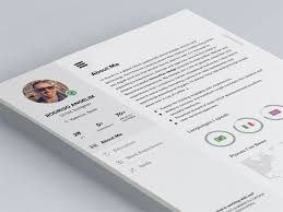 28 free cv resume templates html psd u0026 indesign web