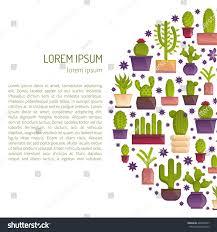 Home Interior Mexico Vector Illustration Cartoon Isolated Cactus Vector Stock Vector