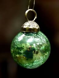 mini glass bauble tree ornament from india gold