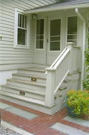 Outer Staircase Design Great Outside Stairs And Small Enclosed Porch With Gray Polished