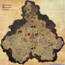 Elder Scrolls Map Coldharbour Skyshards Map Elder Scrolls Online Guides