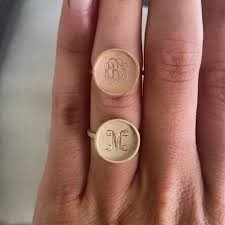 Monogram Rings Gold Monogram Rings Monogram Jewelry Initial Obsession U2013 Tagged